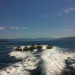 Tube ride, fun on the water